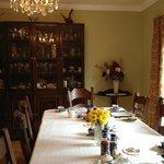 The breakfast room, very classy