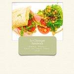 Le Classique sandwich Jambon-Beurre. Parmi d'autres bons sandwichs proposés...