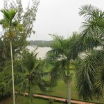 Mekong river view from balcony