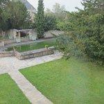 jardin arboré et verdoyant