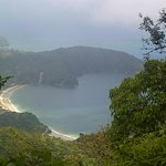A view of Maracas Bay from El Tucuhe Mountain