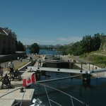 The 8 locks at the Chateau Laurier - stairs to the Ottawa River