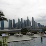 Skyline view from poolside