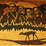 Corn Cob rendition of Mt. Rushmore inside the Corn Palace