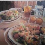 lunch..shrimp sald