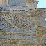 Parts of Roman warships depicted on a frieze on the imperial arch in Orange, France.