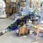 Beautiful glass fish being made, Lava Glass Factory