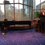 Mezzanine lobby pre-opera sampling by Minnesota Opera artistic staff