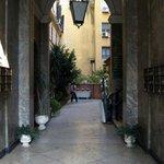 Behind the BIG door - the courtyard