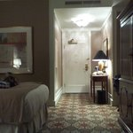 Bed, entrance, TV armoire
