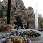 buena comida y bellas vistas