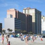 Hotel facing the beach