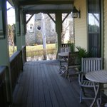 Porch on front of inn