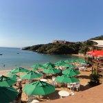 vista desde el comedor club de playa
