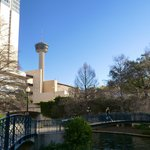 Tower of the Americas from the Riverwalk