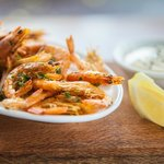 Crisp & spicy school prawns