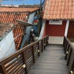 escadas do segundo para o terceiro piso