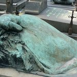 Grief showing through the statue