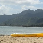 The kayak and the beach