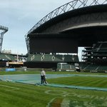 Field level panorama shot on 4/15/14.  View from dugout.