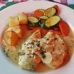 Chicken in garlic wine and butter