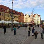 Typical street view of one of the 4 sides of the Rynek