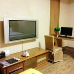 Plasma TV and work station