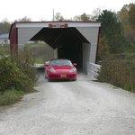 You can still drive through Cedar covered bridge.