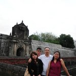 At the entrance of Fort Santiago