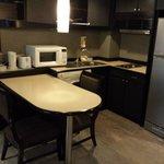 Room kitchen area