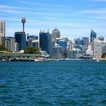 Sydney skyline , from river cat