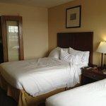 Bedroom View from Window 2 Queen Suite