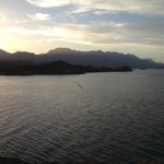 Sunset view of islands of Loreto