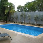 Guest mineral solar heated pool