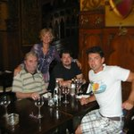 """With my family at """"Caru'cu Bere"""", last September"""