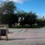 Praça em frente ao Hostel