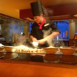 Great Asian restaurant.  He cooks the food right in front of you.