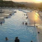 Outside Terme Pool during sunset