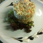 Salata de cruditati si piept de pui