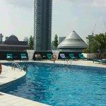 Swimming pool on 23th floor
