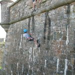 abseiling with Jersey Adventures