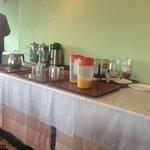 the delightful breakfast table (!)