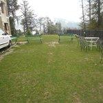 Nice lawn of hotel Hatu