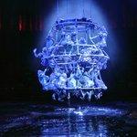human chandelier...so cool!