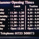 Summer Opening Times (in focus)
