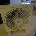 Small fan brought into the room