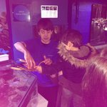 Hands on with the sea creatures!