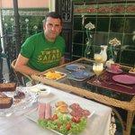 Desayunando en Casa Geranio, espectacular!!!