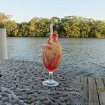 Cool drink with view of river