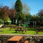 Beautiful beer garden